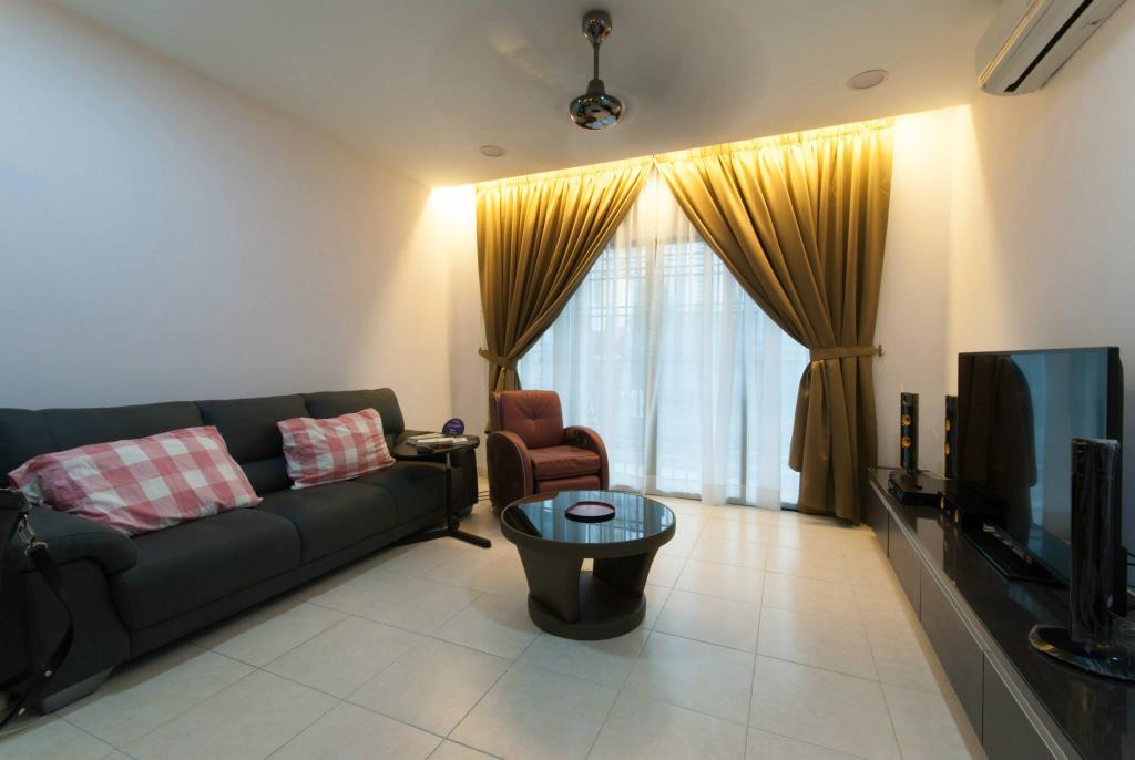 Modern, Condo, Living Room, Changkat View, Mont Kiara, Interior Designer, Anwill Design Sdn Bhd, Couch, Furniture, Indoors, Room