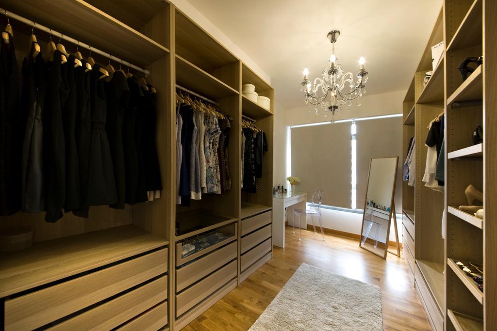 Vintage, HDB, Bedroom, Anchorvale Cresent, Interior Designer, Edge Interior, Chandelier, Walk In Wardrobe, Wardrobe, Closet, Mirror, Building, Housing, Indoors, Interior Design, Flooring