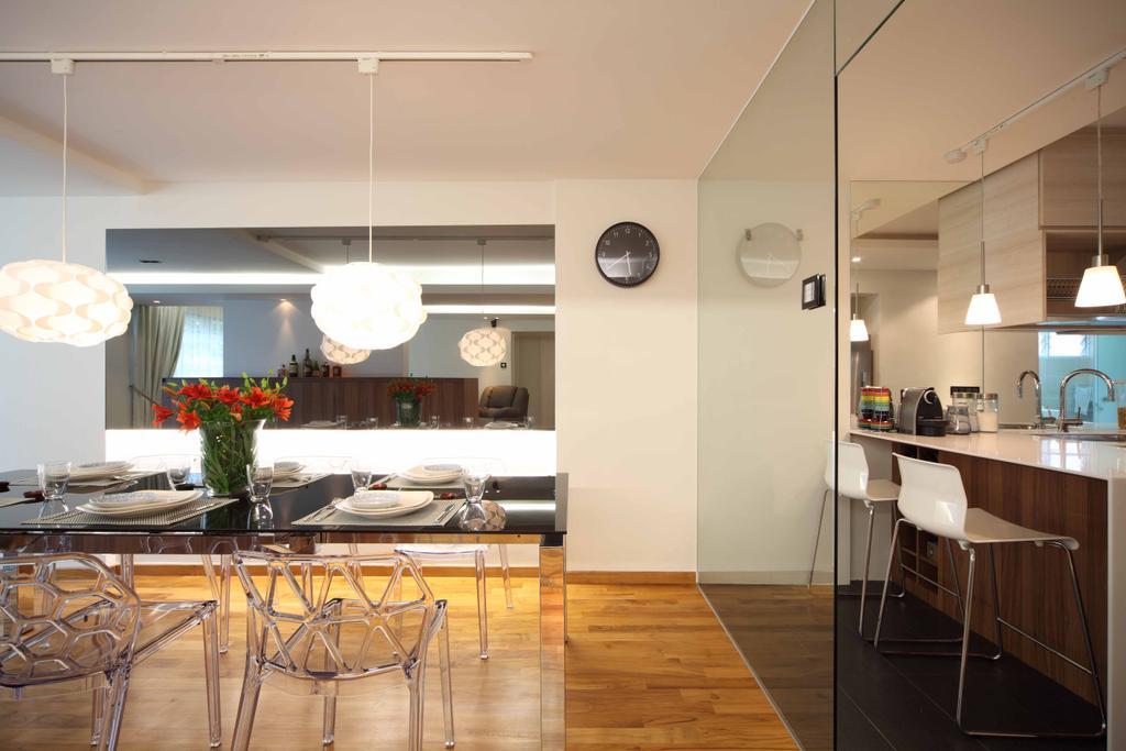 Contemporary, HDB, Dining Room, Bishan Street 13 (Block 170), Interior Designer, Design by Fifteen Pte Ltd, Indoors, Interior Design, Room, Dining Table, Furniture, Table, Flooring