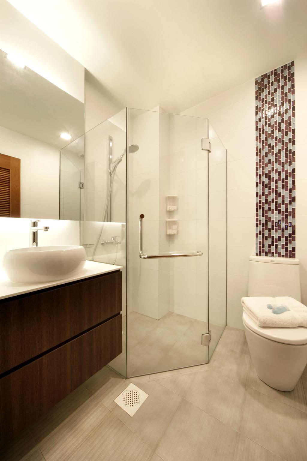 Contemporary, Landed, Bathroom, Chuan Place, Interior Designer, Design by Fifteen Pte Ltd, Indoors, Interior Design, Room