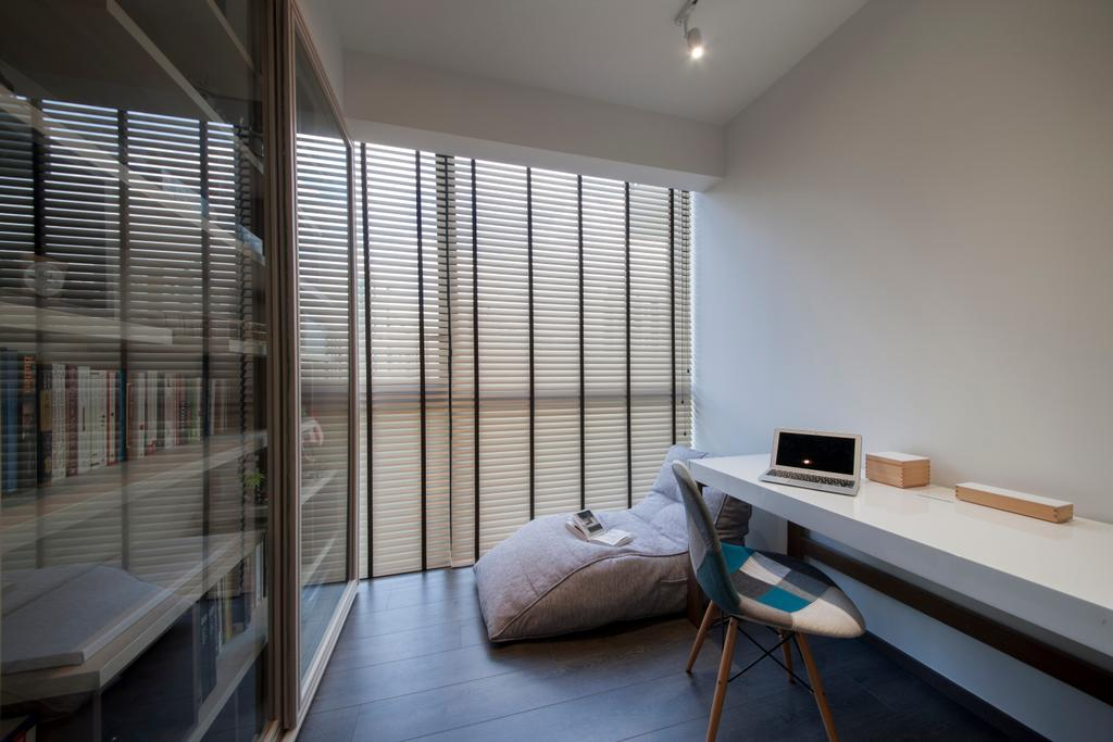 Minimalistic, HDB, Study, Waterbay (Block 45A), Interior Designer, Prozfile Design, Chair, Furniture