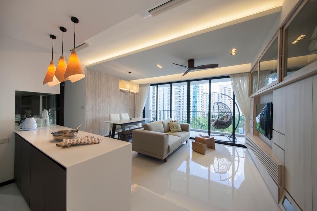 Minimalistic, HDB, Kitchen, Waterbay (Block 45A), Interior Designer, Prozfile Design, Indoors, Interior Design