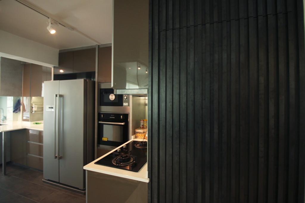 Modern, HDB, Kitchen, 63 Marine Drive, Interior Designer, ChanInteriors, Lighting