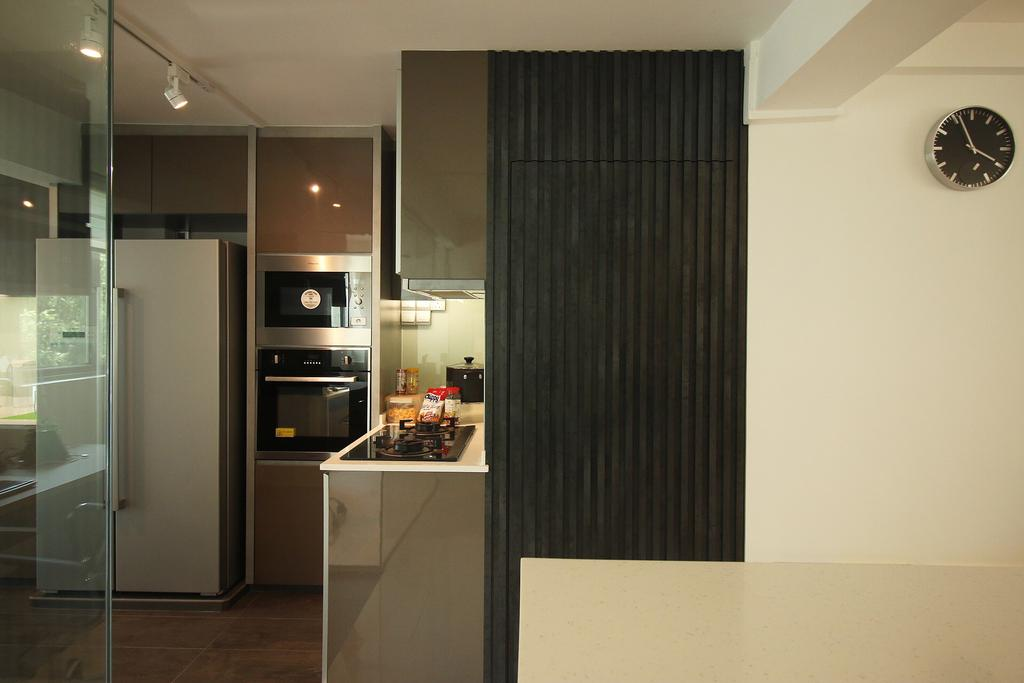 Modern, HDB, Kitchen, 63 Marine Drive, Interior Designer, ChanInteriors, Appliance, Electrical Device, Oven, Door, Sliding Door