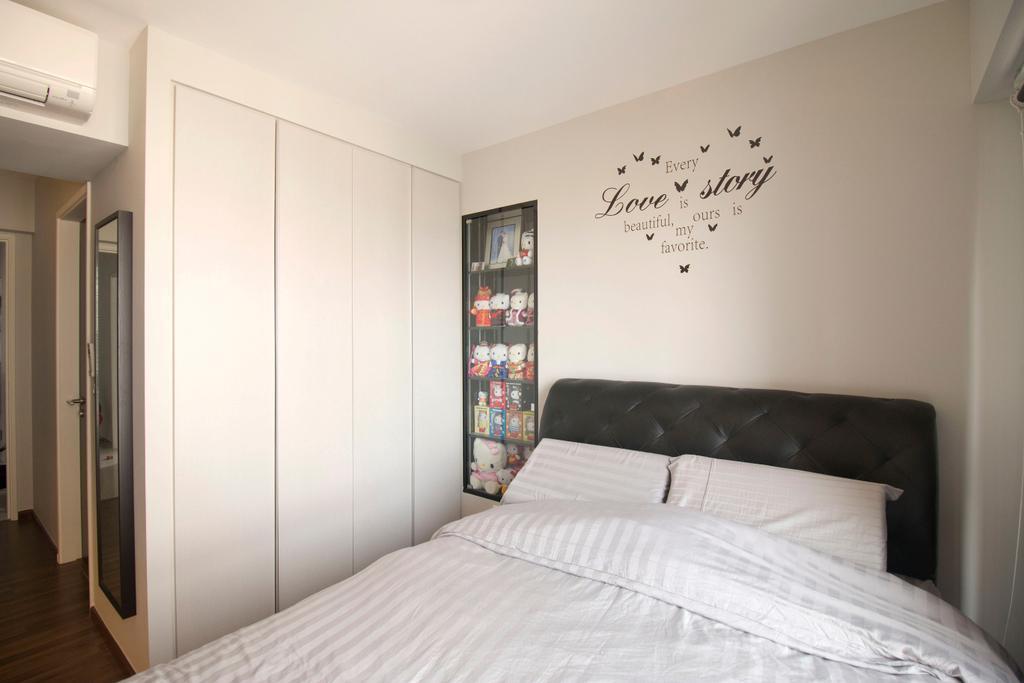 Modern, HDB, Bedroom, Clementi Avenue 4, Interior Designer, ChanInteriors, Molding, Indoors, Interior Design, Room, Flooring