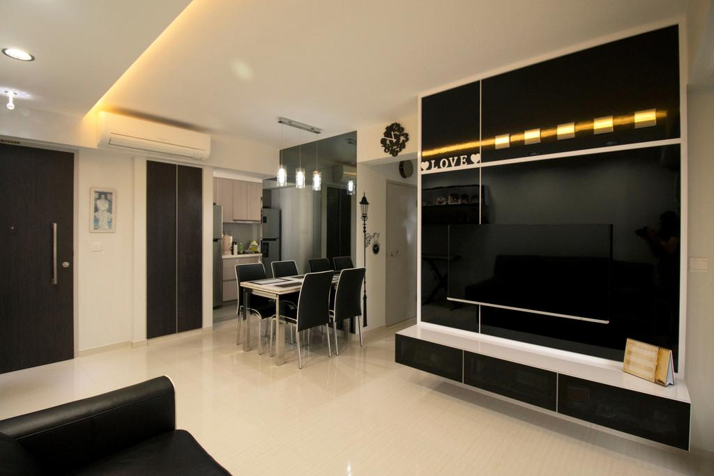 Modern, HDB, Living Room, Clementi Avenue 4, Interior Designer, ChanInteriors, Indoors, Interior Design, Dining Table, Furniture, Table, Conference Room, Meeting Room, Room