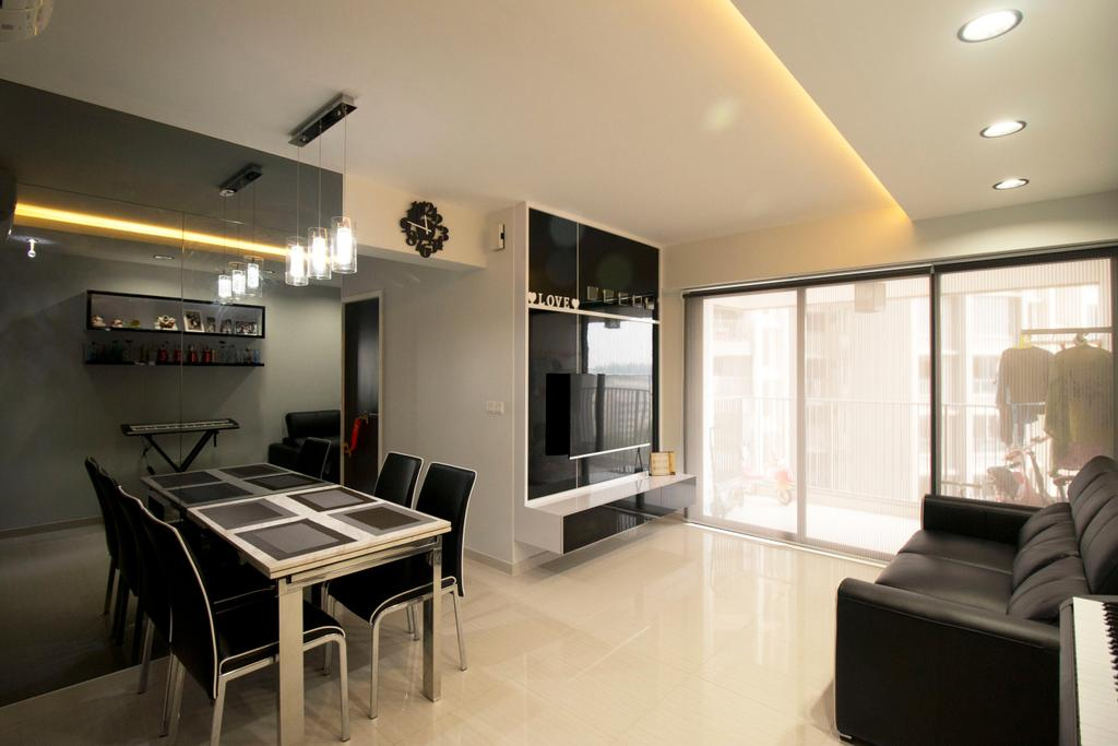 Modern, HDB, Dining Room, Clementi Avenue 4, Interior Designer, ChanInteriors, Dining Table, Furniture, Table, Chair