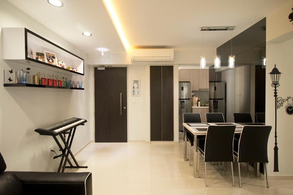 Modern, HDB, Dining Room, Clementi Avenue 4, Interior Designer, ChanInteriors, Chair, Furniture, Dining Table, Table