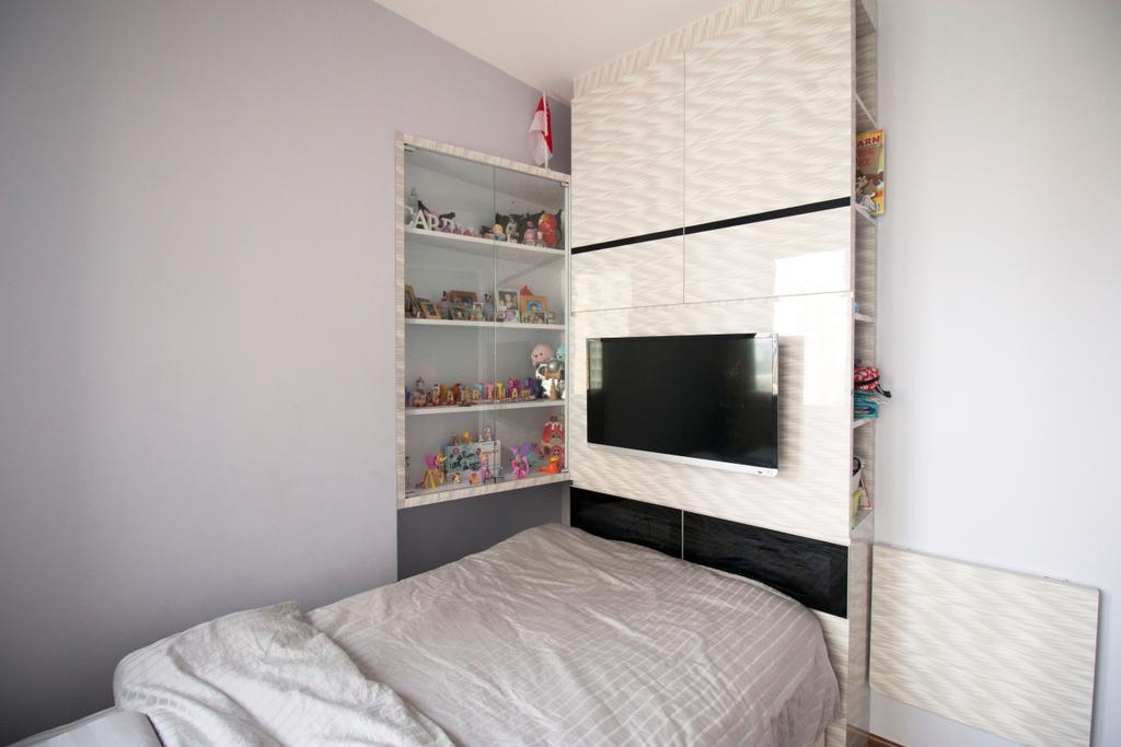 Modern, HDB, Bedroom, Clementi Avenue 4, Interior Designer, ChanInteriors, Fireplace, Hearth, Indoors, Interior Design, Room