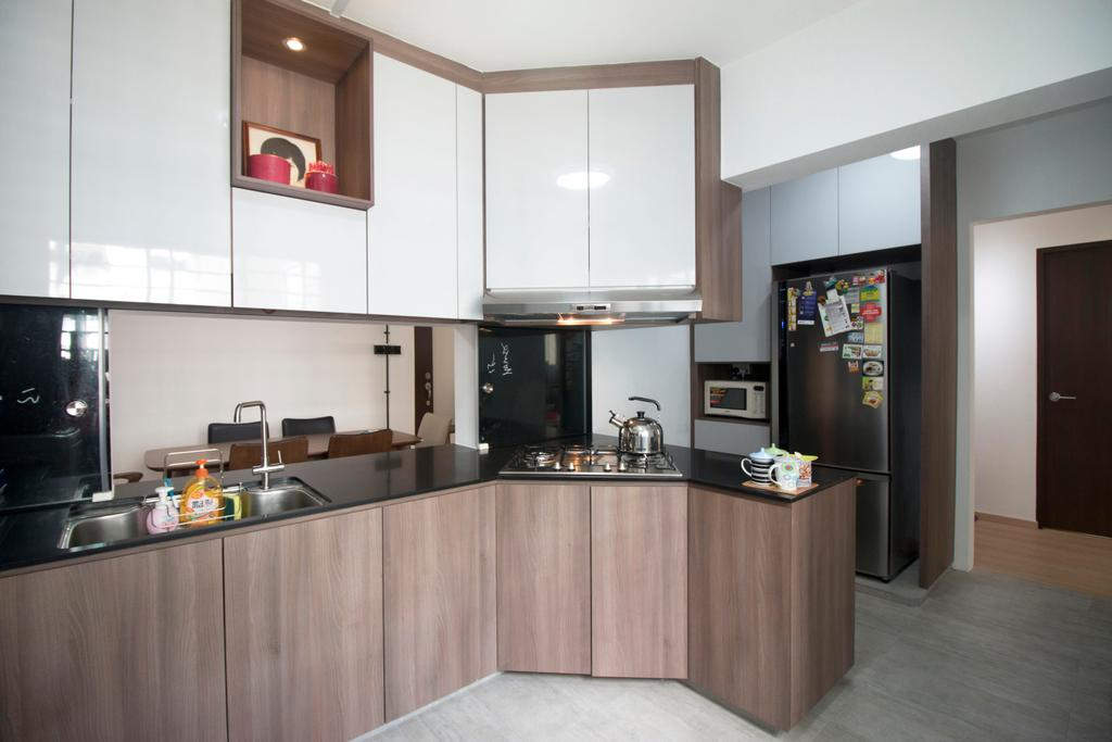 Modern, HDB, Kitchen, Yishun Street 81, Interior Designer, ChanInteriors, Appliance, Electrical Device, Oven, Indoors, Interior Design, Room