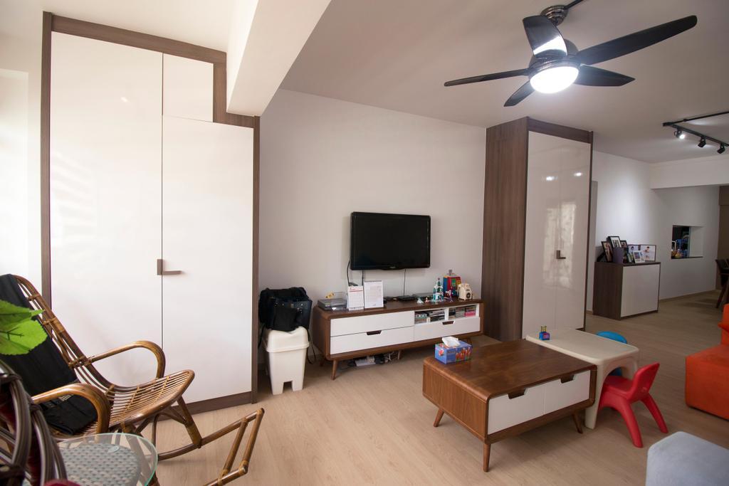 Modern, HDB, Living Room, Yishun Street 81, Interior Designer, ChanInteriors, Chair, Furniture, Lighting, Couch, Building, Housing, Indoors