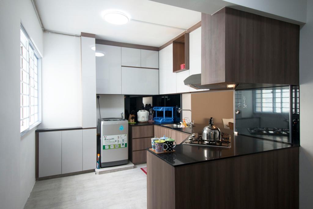 Modern, HDB, Kitchen, Yishun Street 81, Interior Designer, ChanInteriors, Indoors, Interior Design, Room