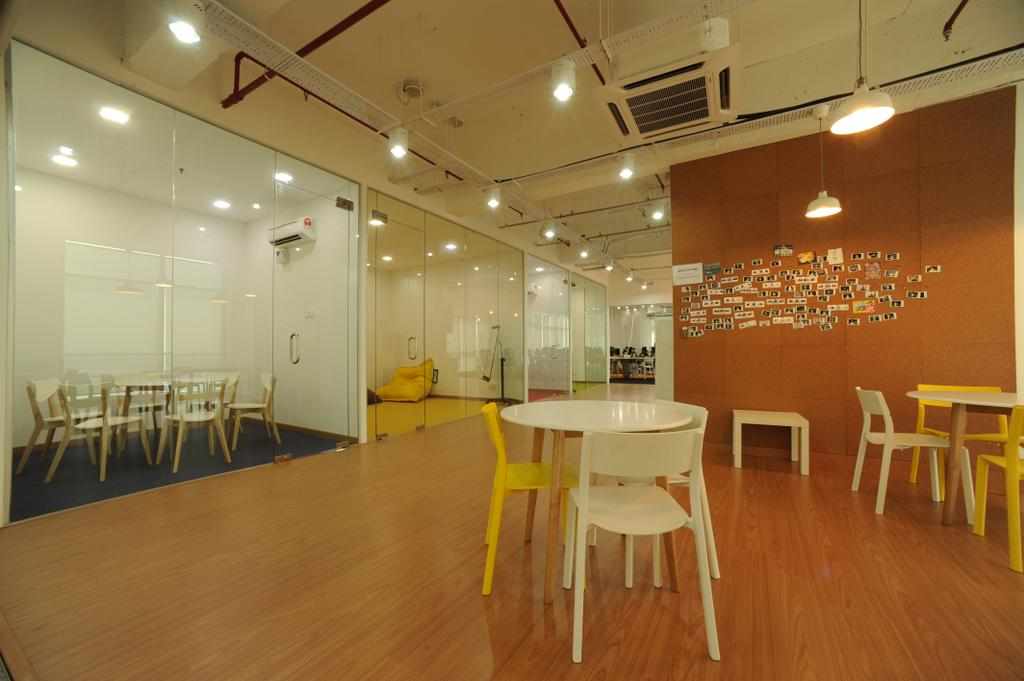 Vertical - Gamefounder, Commercial, Interior Designer, IQI Concept Interior Design & Renovation, Modern, Flooring, Dining Table, Furniture, Table, Dining Room, Indoors, Interior Design, Room, Bench, Chair