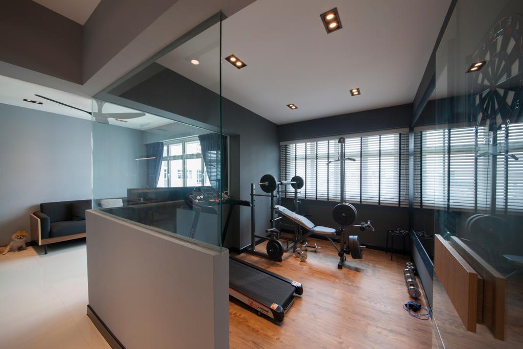 Contemporary, HDB, Bedroom, Punggol Drive (Block 663A), Interior Designer, Posh Home, Sink, Lighting