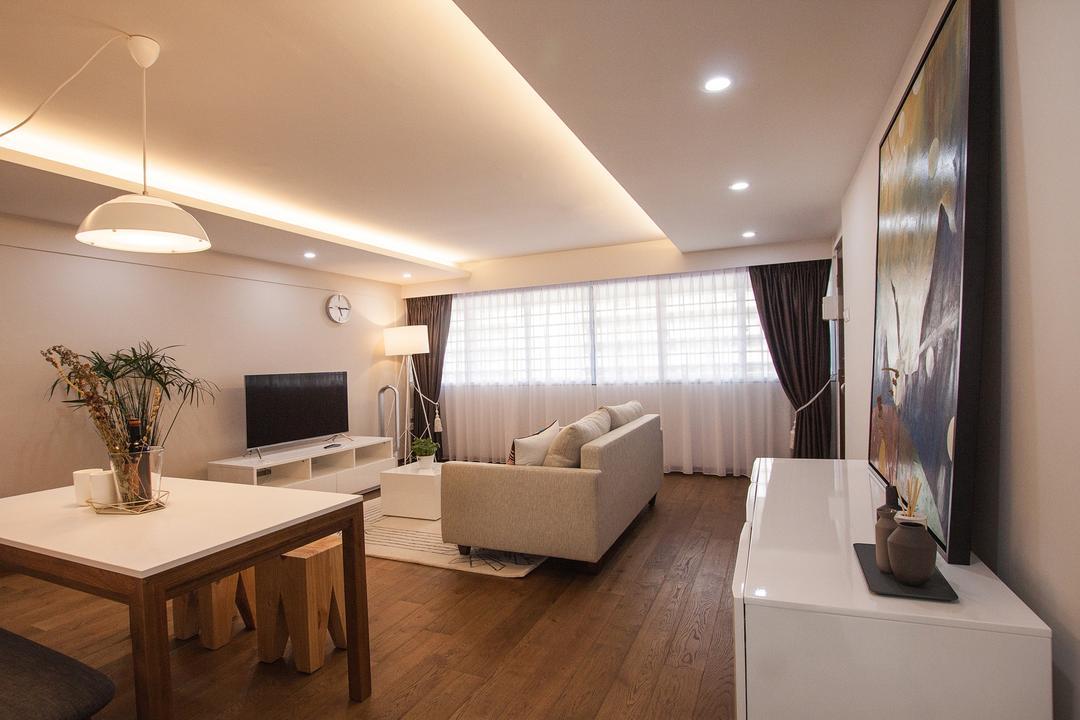 Saint George Road, Space Atelier, Modern, Living Room, HDB, Hallway, Corridor, Walkway