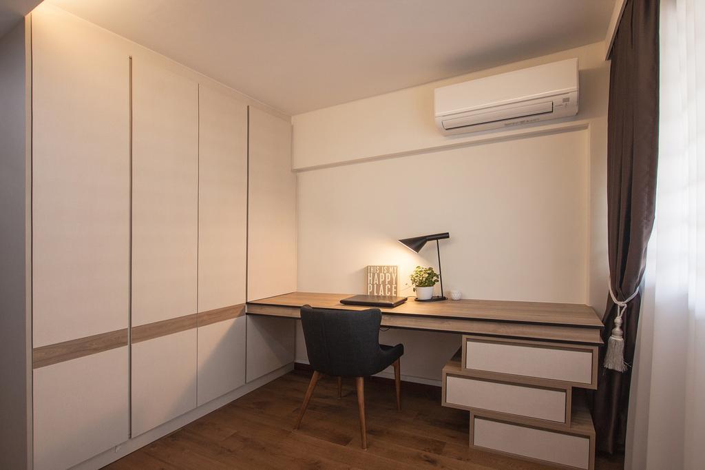 Modern, HDB, Study, Saint George Road, Interior Designer, Space Atelier