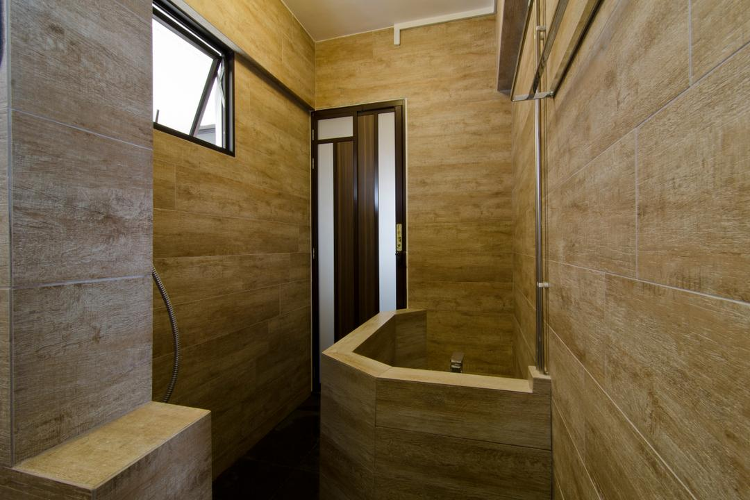 Bukit Batok, Arc Square, Transitional, Bathroom, HDB, Wooden Design Wall, Toilet Wall