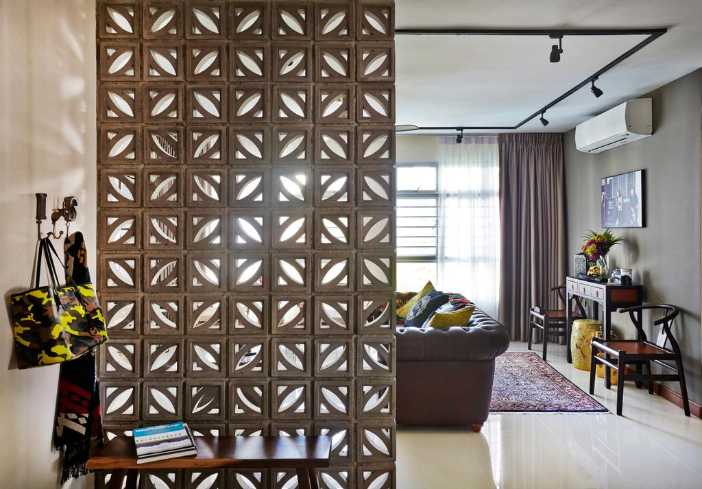 Eclectic, HDB, Living Room, Tampines Greenlace, Interior Designer, Fuse Concept, Transitional, Dining Room, Indoors, Interior Design, Room, Chair, Furniture