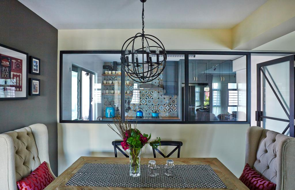 Eclectic, HDB, Dining Room, Tampines Greenlace, Interior Designer, Fuse Concept, Transitional, Couch, Furniture, Flora, Jar, Plant, Potted Plant, Pottery, Vase, Indoors, Interior Design, Room, Bedroom