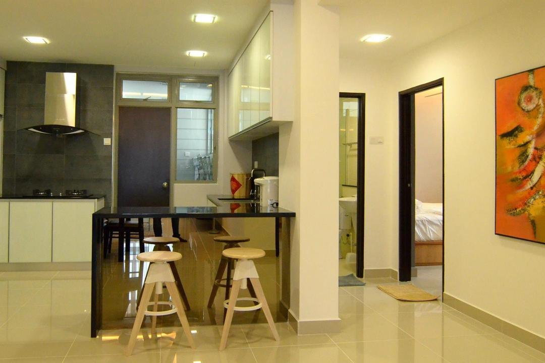 All Season Park, Grazioso Design, Modern, Kitchen, Condo, Chair, Furniture, Dining Room, Indoors, Interior Design, Room, Blackboard, Apartment, Building, Housing