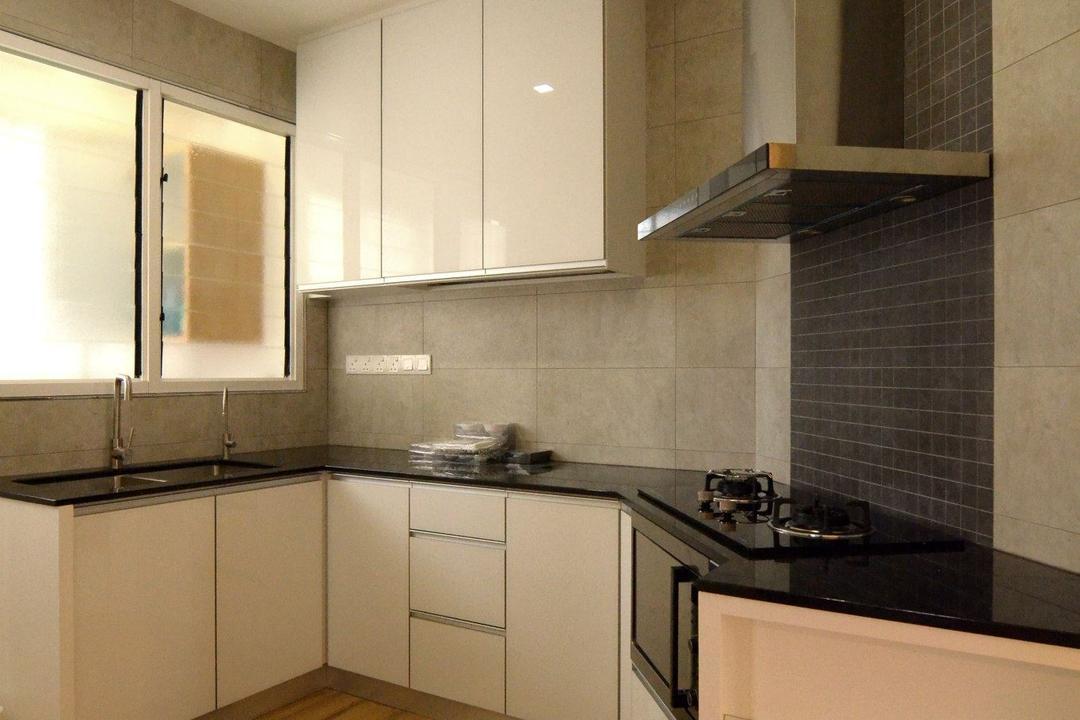 Gurney Park, Grazioso Design, Modern, Kitchen, Condo, Indoors, Interior Design, Room, Tile, Bathroom