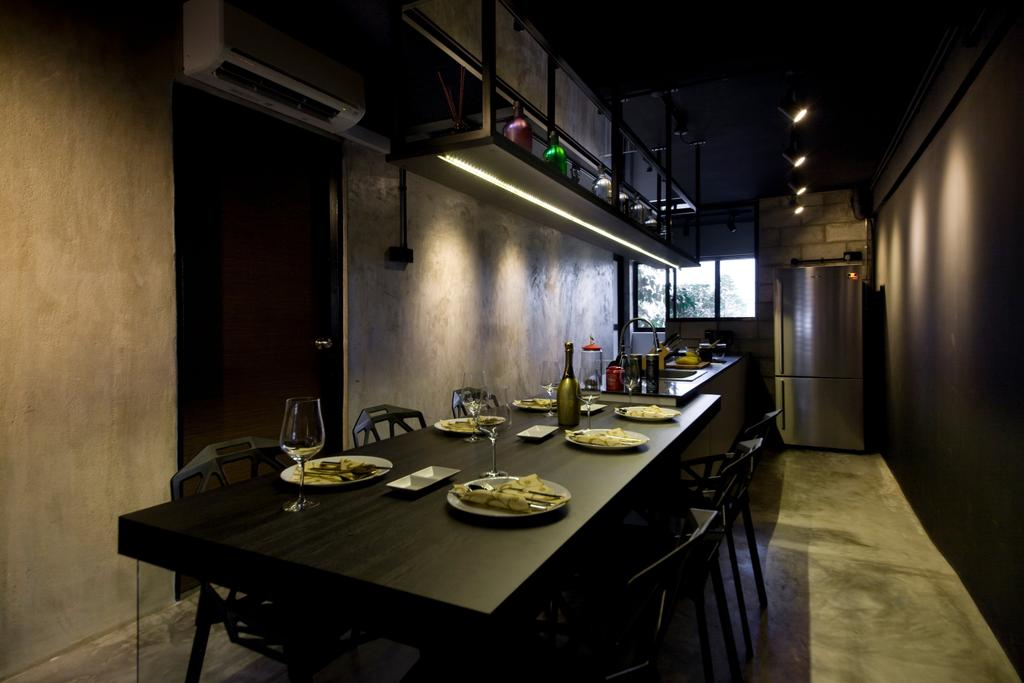 Contemporary, HDB, Dining Room, Serangoon Ave 4, Interior Designer, Edge Interior, Indoors, Interior Design, Room, Dining Table, Furniture, Table