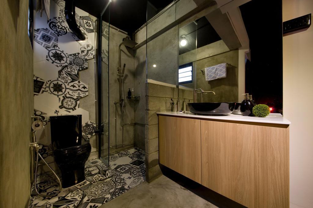 Contemporary, HDB, Bathroom, Serangoon Ave 4, Interior Designer, Edge Interior, Wiring