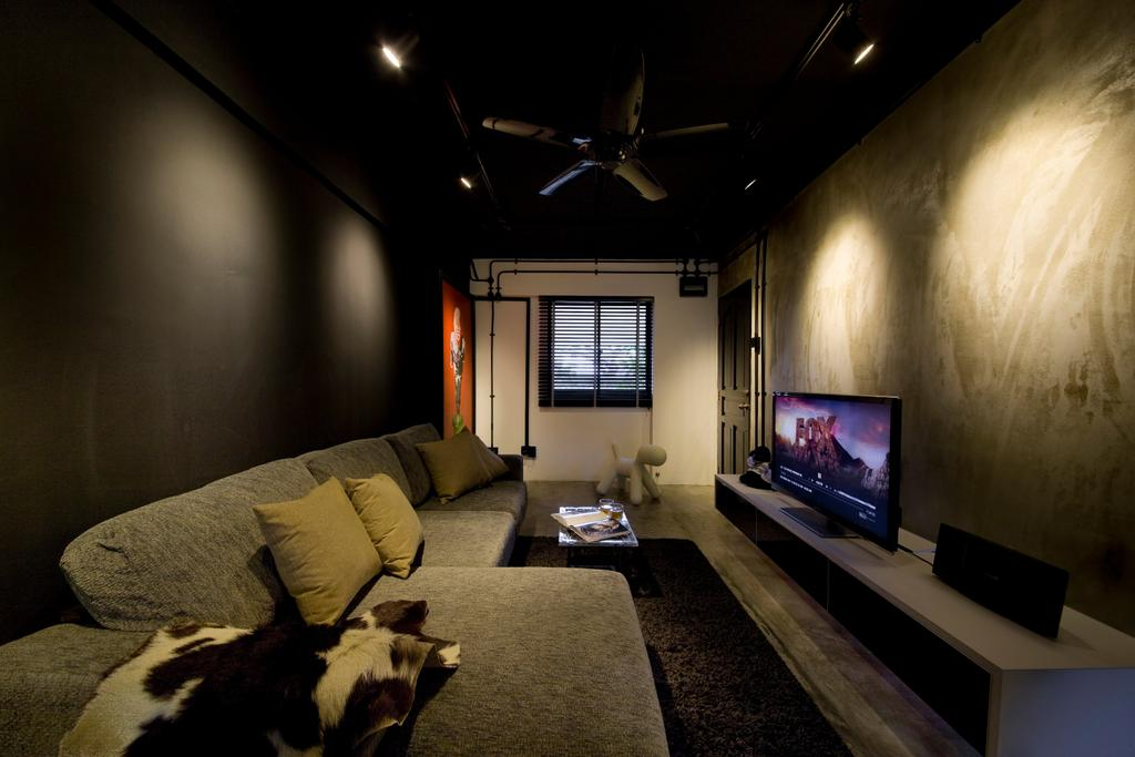 Contemporary, HDB, Living Room, Serangoon Ave 4, Interior Designer, Edge Interior, Couch, Furniture, Electronics, Entertainment Center, Home Theater, Window