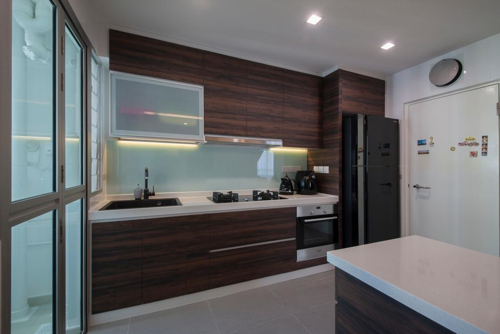 Modern, HDB, Macpherson Residency (Block 18D), Interior Designer, Metamorph Design, Plywood, Wood, Indoors, Interior Design, Kitchen, Room
