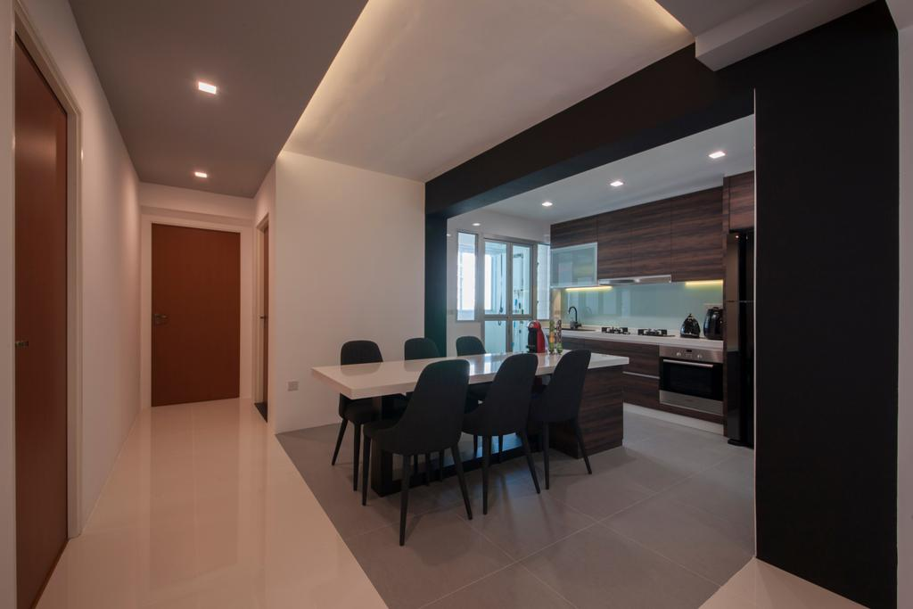Modern, HDB, Macpherson Residency (Block 18D), Interior Designer, Metamorph Design, Couch, Furniture, Dining Table, Table, Chair, Conference Room, Indoors, Meeting Room, Room, Interior Design