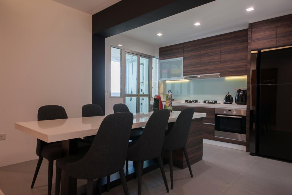 Modern, HDB, Macpherson Residency (Block 18D), Interior Designer, Metamorph Design, Chair, Furniture, Dining Table, Table, Conference Room, Indoors, Meeting Room, Room, Bar Stool, Dining Room, Interior Design
