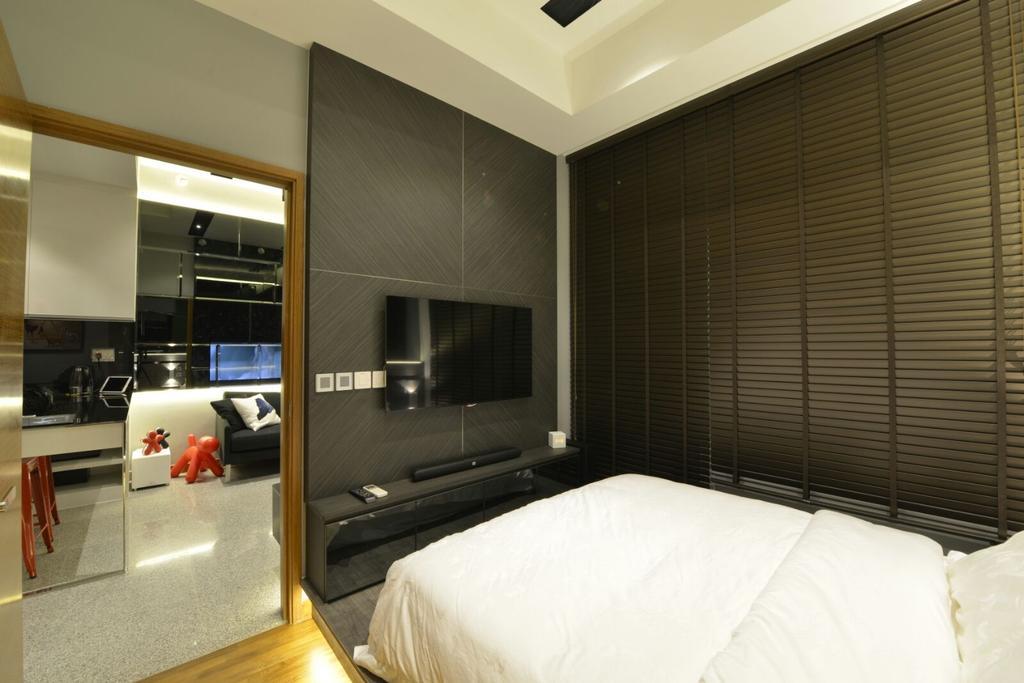 Contemporary, Condo, Bedroom, Seahill, Interior Designer, Earth Interior Design Pte Ltd, Appliance, Electrical Device, Oven, Indoors, Interior Design, Room