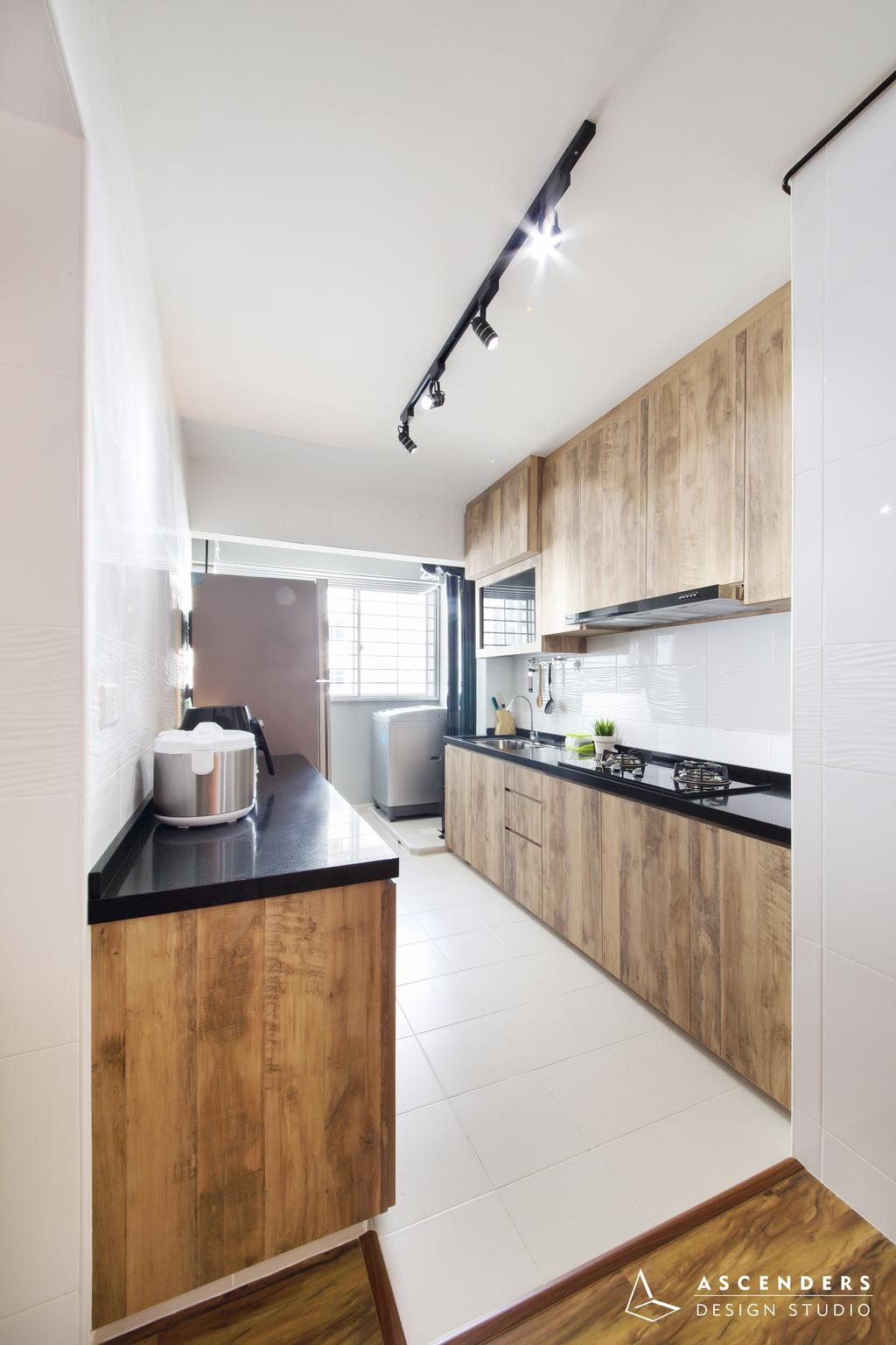 Contemporary, HDB, Kitchen, Fajar Road (Block 443B), Interior Designer, Ascenders Design Studio, Indoors, Interior Design, Room, Bathroom