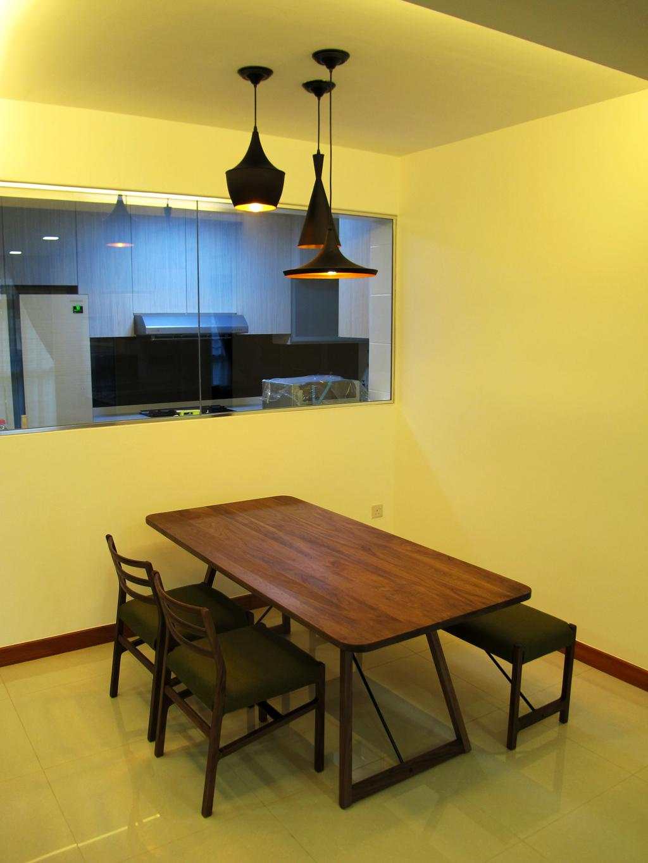 Scandinavian, HDB, Dining Room, Compassville Ancilla, Interior Designer, Colourbox Interior, Chair, Furniture, Dining Table, Table