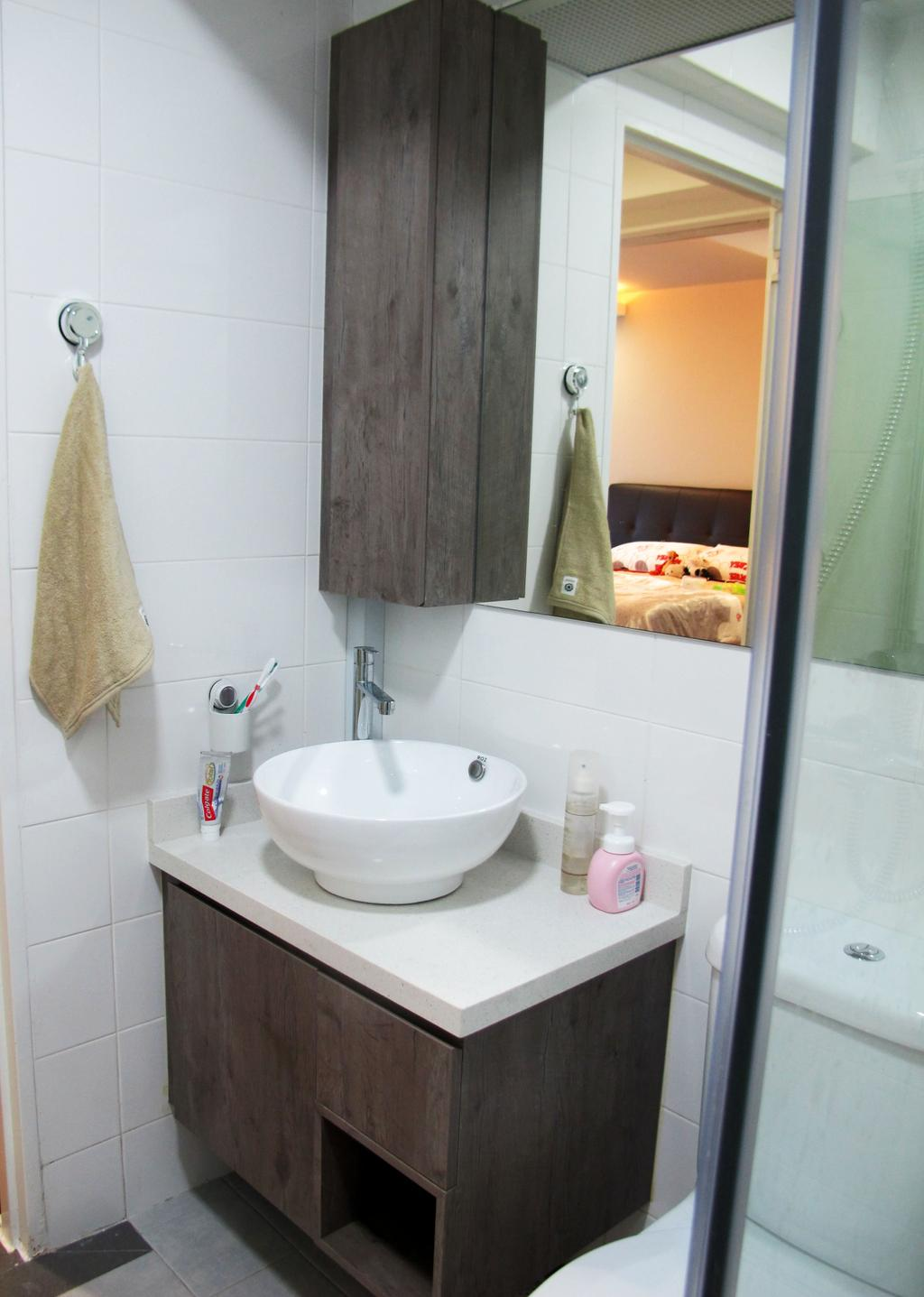 Scandinavian, HDB, Bathroom, Compassville Ancilla, Interior Designer, Colourbox Interior, Toilet
