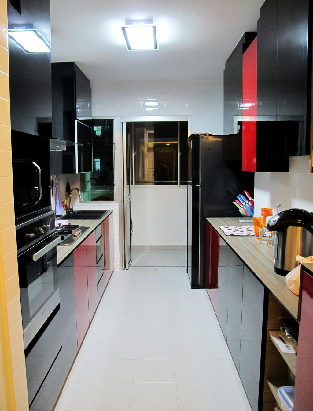 Modern, HDB, Kitchen, Anchorvale Harvest, Interior Designer, Colourbox Interior