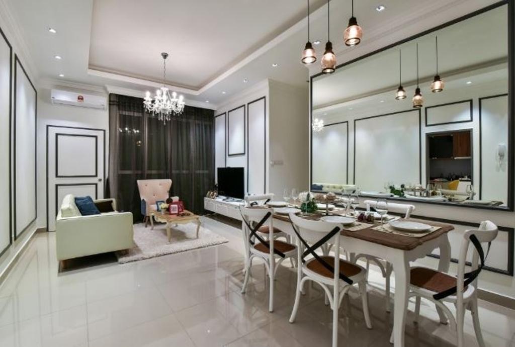 Condo, Living Room, Ceria Residence (Type B), Interior Designer, Nice Style Refurbishment, Dining Table, Furniture, Table, Dining Room, Indoors, Interior Design, Room