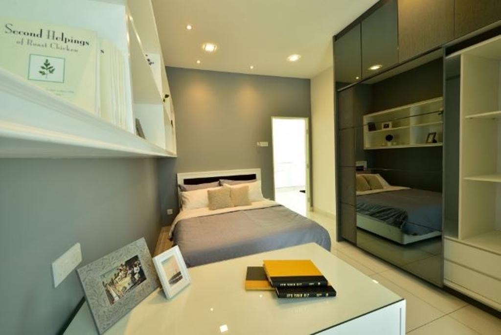 Modern, Condo, Bedroom, Serena Residence Rawang RT1, Interior Designer, Nice Style Refurbishment, Lighting, Book