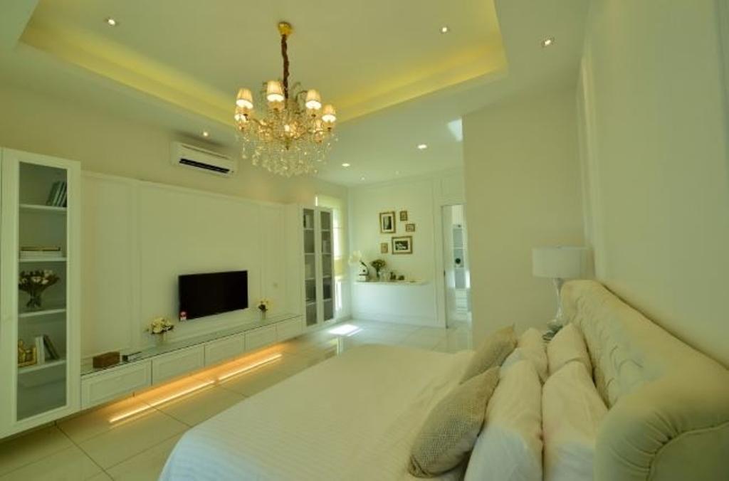 Modern, Condo, Bedroom, Serena Residence Rawang RT1, Interior Designer, Nice Style Refurbishment, Indoors, Room, Electronics, Monitor, Screen, Tv, Television, Interior Design