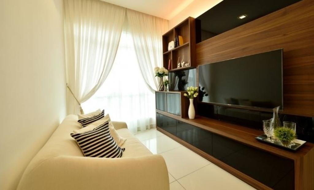 Modern, Condo, Living Room, Serene Residence Rawang RT2, Interior Designer, Nice Style Refurbishment, Indoors, Room, Furniture, Tabletop