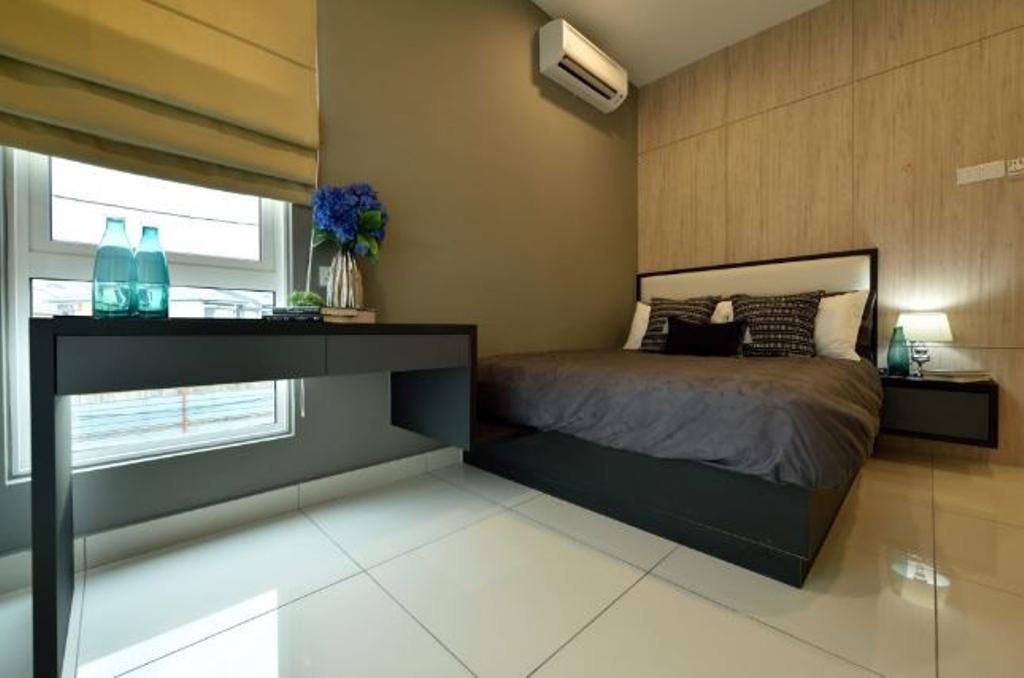 Modern, Condo, Bedroom, Serene Residence Rawang RT2, Interior Designer, Nice Style Refurbishment, Flora, Jar, Plant, Potted Plant, Pottery, Vase, Molding