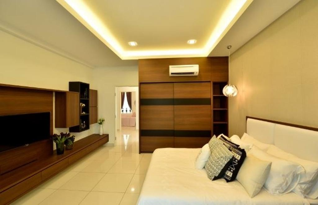 Modern, Condo, Bedroom, Serene Residence Rawang RT2, Interior Designer, Nice Style Refurbishment, Indoors, Room, Lighting, Interior Design