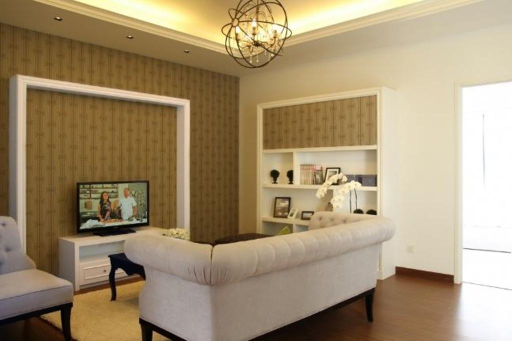 Modern, Condo, Living Room, Mansion Park, Interior Designer, Nice Style Refurbishment, Couch, Furniture, Light Fixture
