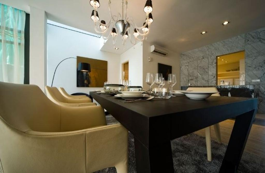 Modern, Landed, Dining Room, Mirage Villa House, Interior Designer, Nice Style Refurbishment, Indoors, Room, Interior Design