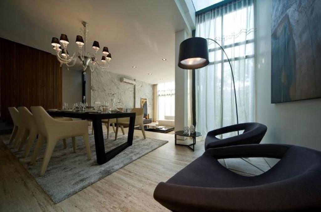Modern, Landed, Dining Room, Mirage Villa House, Interior Designer, Nice Style Refurbishment, Dining Table, Furniture, Table, Indoors, Interior Design, Room, Chair