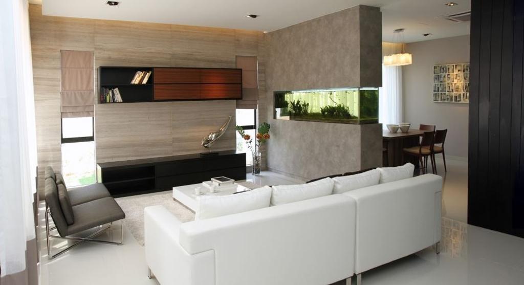 Modern, Condo, Living Room, Sutera Damansara, Interior Designer, Nice Style Refurbishment, Couch, Furniture, Chair