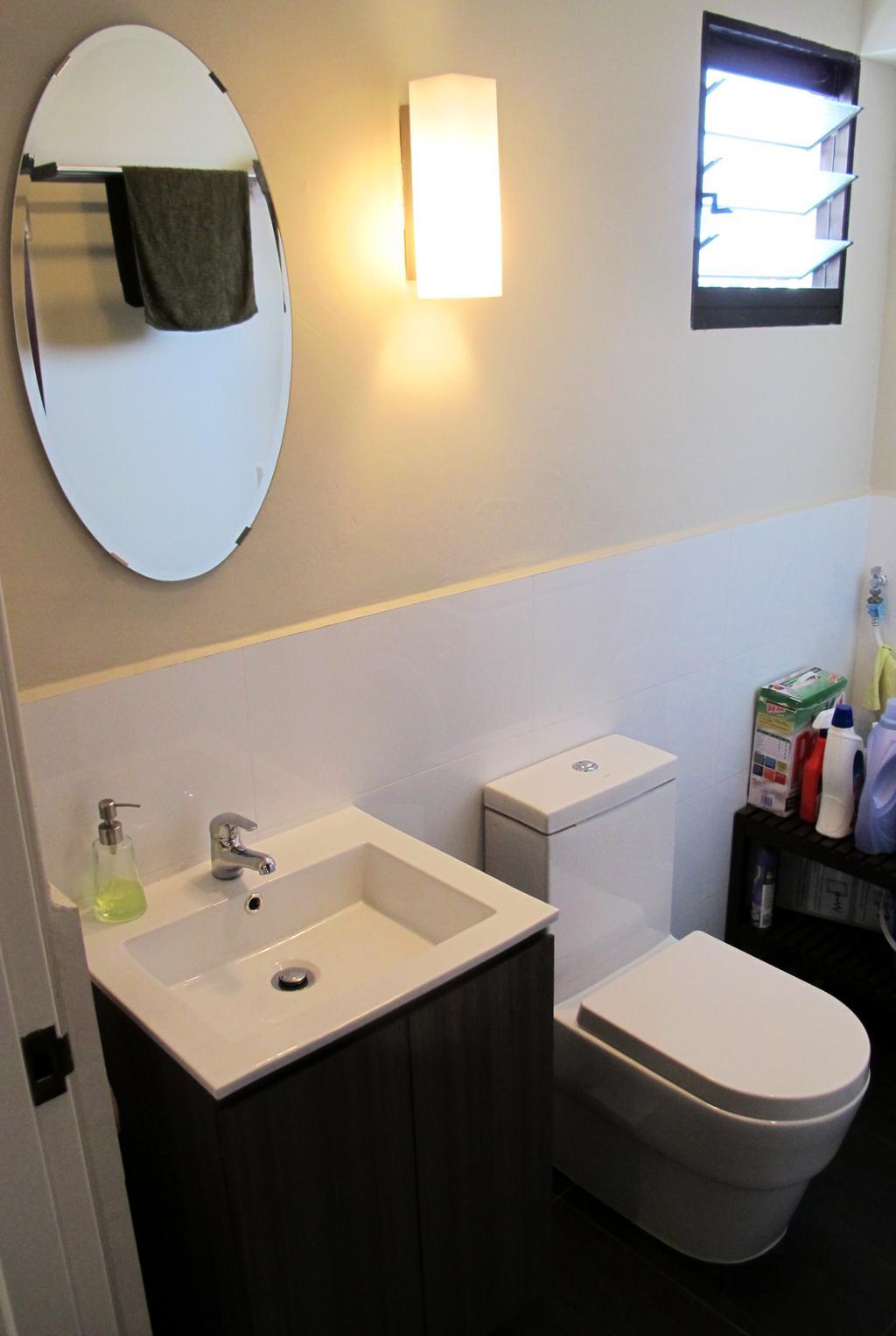 Eclectic, HDB, Bathroom, Jalan Membina, Interior Designer, Colourbox Interior, Bottle, Building, Housing, Indoors, Sink