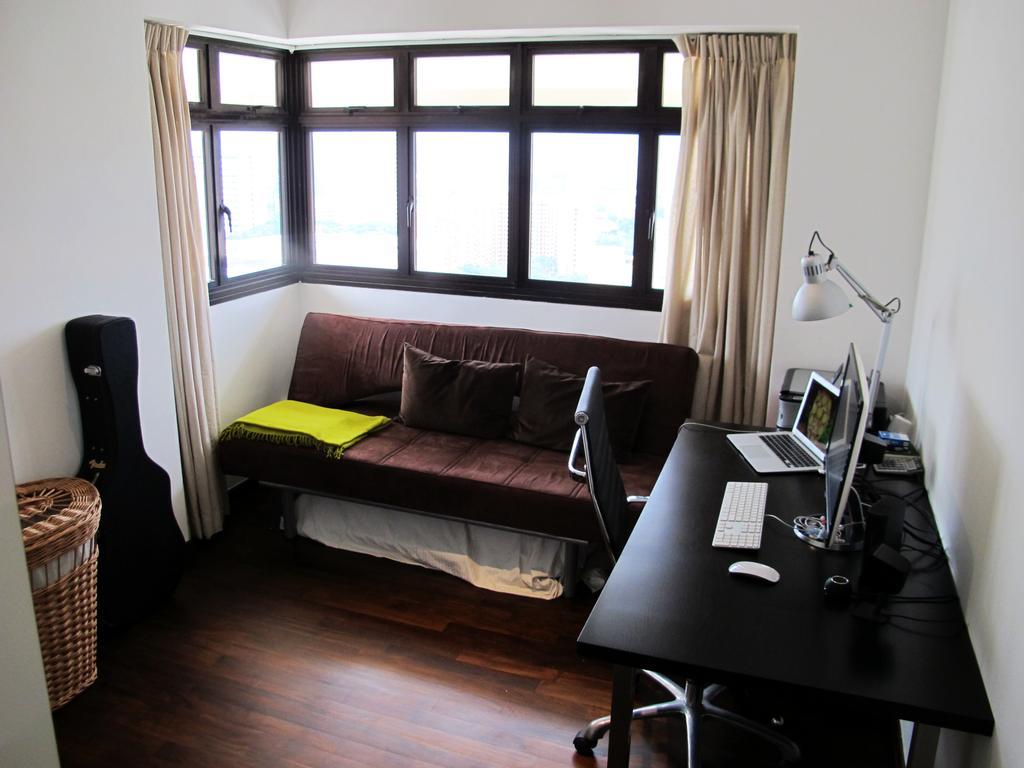 Eclectic, HDB, Study, Jalan Membina, Interior Designer, Colourbox Interior, Window, Computer, Electronics, Laptop, Pc