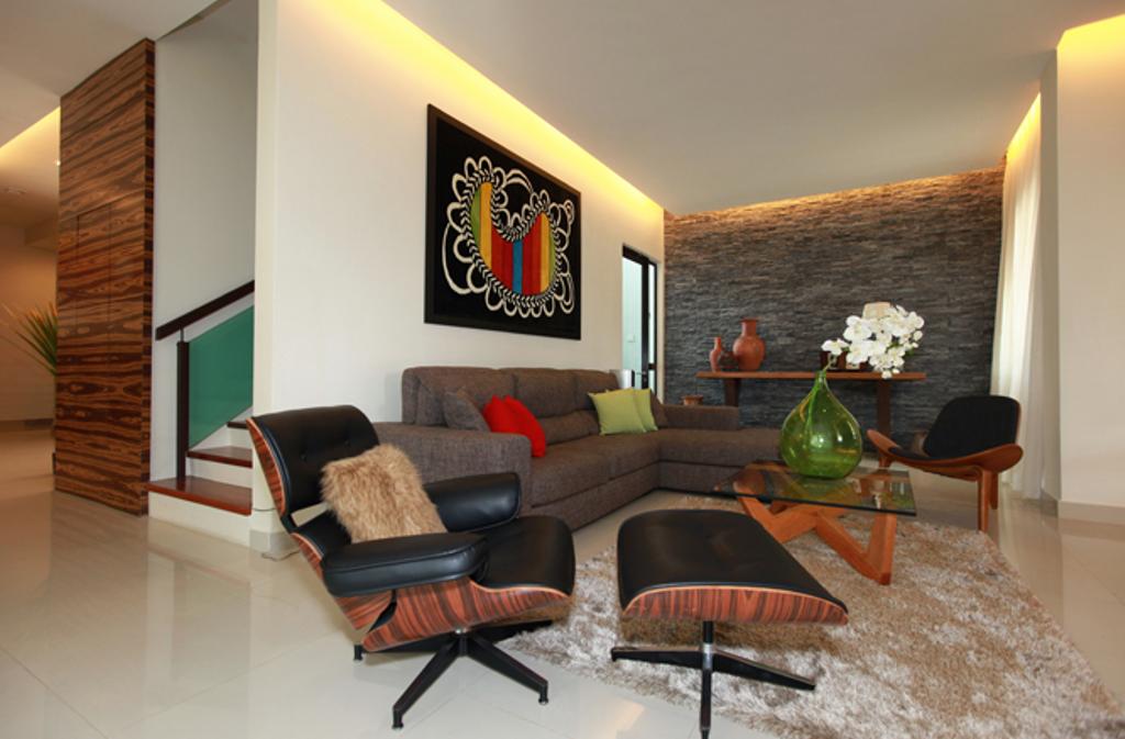 Modern, Landed, Living Room, Dr Lee PK8, Interior Designer, Turn Design Interior, Contemporary, Couch, Furniture, Chair, Indoors, Interior Design