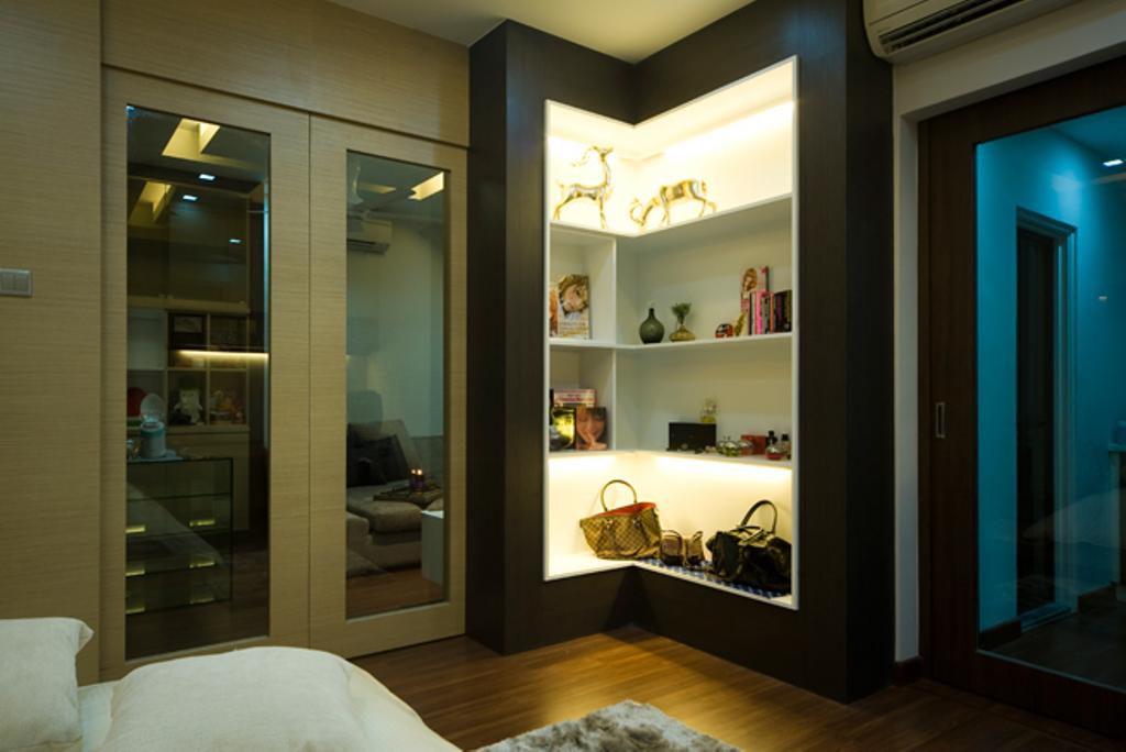 Modern, Landed, Bedroom, Loke House Kajang, Interior Designer, Turn Design Interior, Contemporary, Apartment, Building, Housing, Indoors, Door, Sliding Door